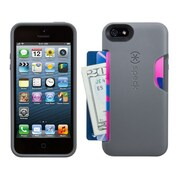 Speck® SmartFlex Card Case For iPhone 5/5S, Graphite Gray