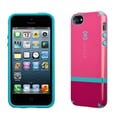 Speck CandyShell Flip for iPhone 5, Raspberry Pink/Port Red/Peacock Blue