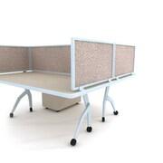 "Obex Acoustical Desk Mount Privacy Panel W/AL Frame, 18"" x 24"", Field"