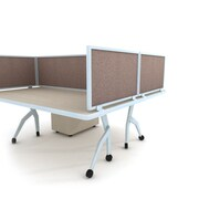 Obex Acoustical Desk Mount Privacy Panel W/AL Frame, 12 x 66, Java