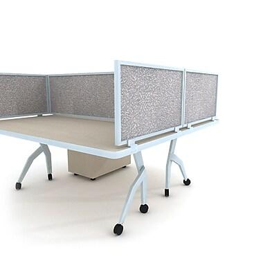 Obex Acoustical Desk Mount Privacy Panel W/AL Frame, 12