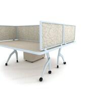 "Obex Acoustical Desk Mount Privacy Panel W/AL Frame, 24"" x 48"", Sage"
