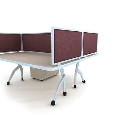 Obex Acoustical Desk Mount Privacy Panel W/AL Frame, 24