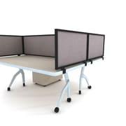Obex Acoustical Desk Mount Privacy Panel W/Black Frame, 12 x 24, Pewter
