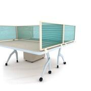 "Obex Polycarbonate Desk Mount Privacy Panel W/Brown Frame, 24"" x 30"", Green"
