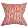 The Pillow Collection Graz Cotton Pillow; Coral