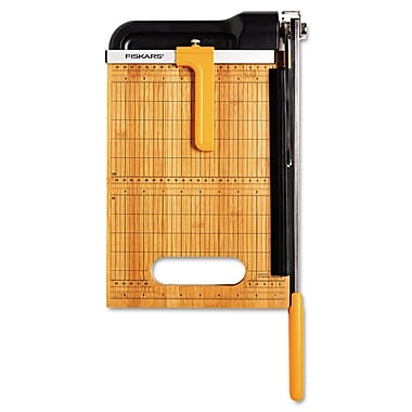 Fiskars® 15 Sheet Bypass Bamboo Trimmer, 12