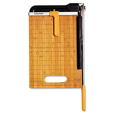 Fiskars® 15 Sheet Bypass Bamboo Trimmer, 15in.(L) Cut