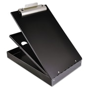 "Saunders® 1"" Capacity Cruiser-Mate Aluminium Storage Clipboard, Black"