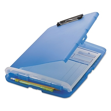 Officemate® 1/2in. Capacity Plastic Slim Clipboard Storage Box, Blue