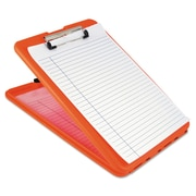 "Saunders® 1/2"" Capacity Polypropylene SlimMate Storage Clipboard, Orange"