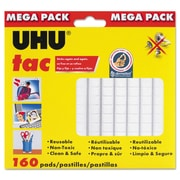 Saunders® UHU Tac Reusable Adhesive Putty, White, 160/Pack