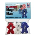 Adams® Magnet Manual Clip, Assorted, 3/Pack