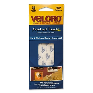 Velcro® 1 1/2in. x 1/2in. Hook to Hook Fastener, Clear, 36/Pack
