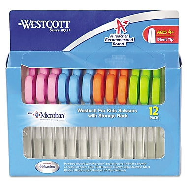 Westcott® Blunt Tip School Pack Kids Scissor With Microban Protection, 5