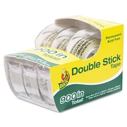 "Manco 1/2"" x 300"" Permanent Double Stick Tape, Clear, 3/Pack"