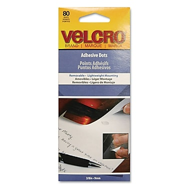 Velcro® Removable Adhesive Dots, Clear, 80/Pack