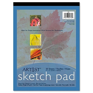 Pacon® Art1st® Sketch Pad, White, 9in.(W) x 12in.(L), 50 Sheets
