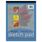 """Pacon® Art1st® Sketch Pad, White, 9""""(W) x 12""""(L), 50 Sheets"""