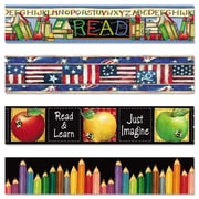 Teacher Created Resources 3 x 140' Susan Winget Border Trim Variety Pack, 48/Set