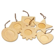 Chenille Kraft Creativity Street Wooden Frame Ornaments, 36 Pieces/Pack