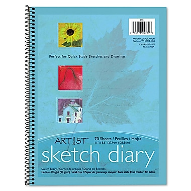Pacon® Art1st® Sketch Diary, 11in. x 8 1/2in., Blue, 70 Sheets