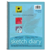 "Pacon® Art1st® Sketch Diary, 11"" x 8 1/2"", Blue, 70 Sheets"