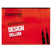 "Chartpak® Clearprint® Design Vellum Paper, Translucent, 24""(W) x 18""(L), 50 Sheets"
