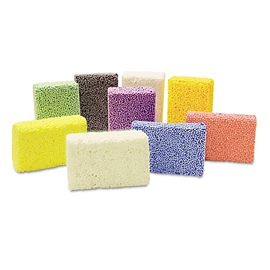 Chenille Kraft Squishy Foam Classpack, Assorted, 36 Blocks