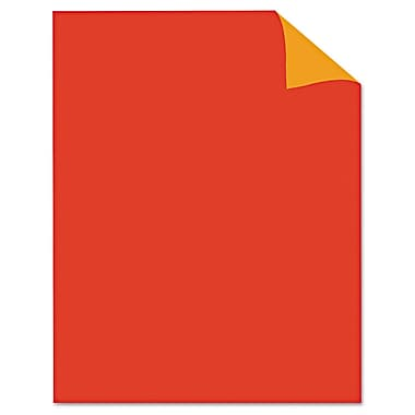 Geographics® 24341 22in. x 28in. Two Cool Neon Poster Board, Fluorescent Red/Orange