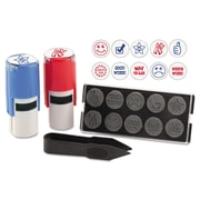 U.S. Stamp Stamp-Ever 10-In-1 Teacher Stamp With 10 Dies, 5/8, Red/Black