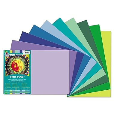 Pacon® Tru-Ray® Sulphite Construction Paper, Cool, 18in.(W) x 12in.(L), 50 Sheets