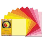 "Pacon® Tru-Ray® Sulphite Construction Paper, Warm, 18""(W) x 12""(L), 50 Sheets"