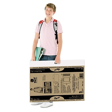 Pacon® 3772 48in. x 36in. Foldable Carry All Presentation Board, Brown