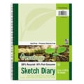 Pacon® Ecology® Sketch Diary, 11in. x 8 1/2in., Green, 70 Sheets