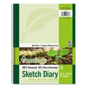 "Pacon® Ecology® Sketch Diary, 11"" x 8 1/2"", Green, 70 Sheets"