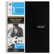 Mead® Five Star® Hook 'N Go 1-Subject Wirebound Notebook, 8 1/2 x 11