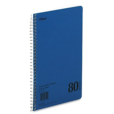 Mead® Spiral® 1-Subject Wirebound Notebook, 6