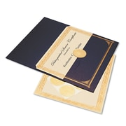 "Geographics® 8 1/2"" x 11"" Foil Embossed Award Certificate Kit, Blue Metallic"