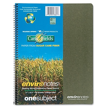 Roaring Spring Environotes Spiral Wirebound Notebook with BioBase Paper, 11