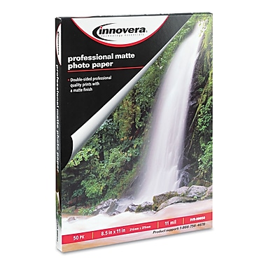 Innovera® 11 mil Heavyweight Matte Photo Paper, 8 1/2in. x 11in., White, 50/Pack