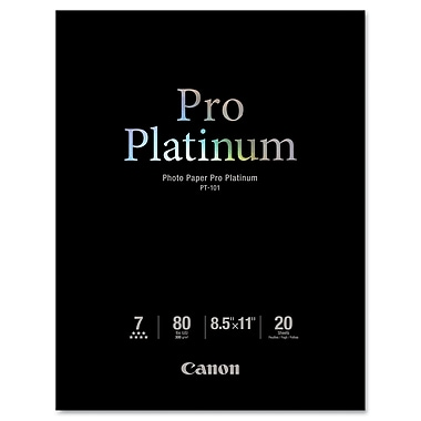 Canon® PT-101 Pro Platinum High Gloss Photo Paper, 8 1/2