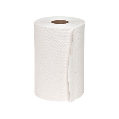 Genuine Joe® Hardwound Roll Towel, White, 12/Pack