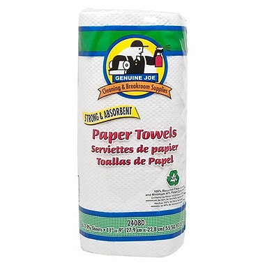 Genuine Joe® Household Paper Towel, White