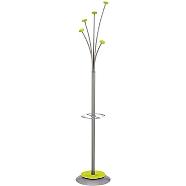 Alba Stylish Festival Floor Coat Stand, 5 Pegs, Green
