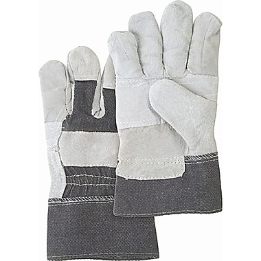 ZENITH SAFETY Split Cowhide Patch Palm Fitters Gloves, Better Quality