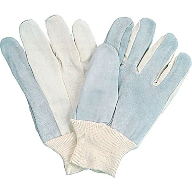 Zenith Safety Split Cowhide Leather Palm Gloves, Better Quality, Large Size, Full Index Finger, 36/Pack