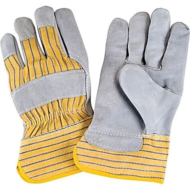 Zenith Safety Split Cowhide Fitters Gloves Starched Safety Cuff, Superior Quality, Large, 36/Pack