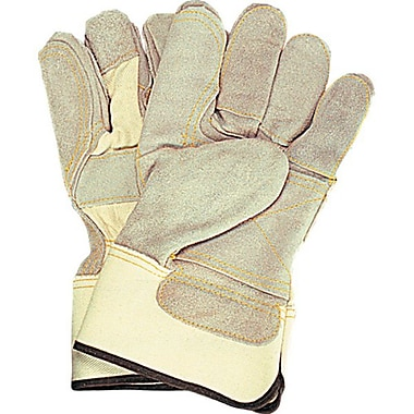 Zenith Safety Double Palm & Index Finger Split Cowhide Fitters Gloves, Superior Quality, L, Outside Double Palm & Tips, 24/Pack