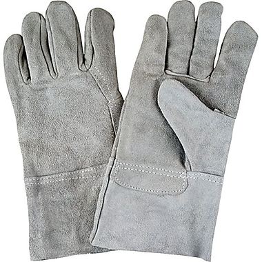 Zenith Safety Split Cowhide Leather Gloves, Superior Quality, Large Size, 4